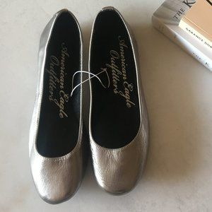New! American Eagle Outfitters pewter ballet flats